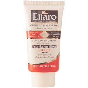ضد آفتاب کرم پودری الارو کاراملی ELLARO SUNSCREEN CREAM SPF 30