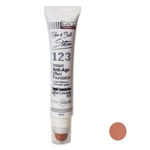 کرم پودر آی فیس تیوپی شماره FB02 کانسیلر دار مدل 123
