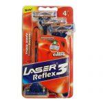 خود تراش 3 لبه مردانه لیزر مدل رفلکس 4 عددی Reflex