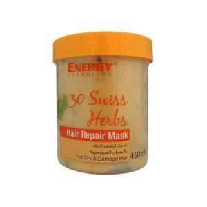 ماسک مو 30 گیاه انرژی حجم 450 میل کاسه ای