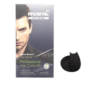 کیت رنگ مو مردانه مارال قهوه ای تیره Maral Black Brown Hair Color Kit