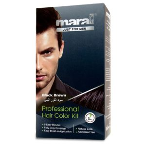 کیت رنگ مو مردانه مارال قهوه ای مشکی Maral Black Brown Hair Color Kit
