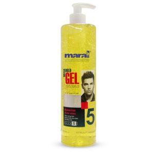 ژل مو مارال پمپی 450میل خیلی قوی(زرد) maral