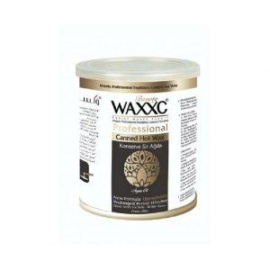 موم کنسروی  وکسی زغال حاوی روغن آرگان حجم 800 گرم waxxc