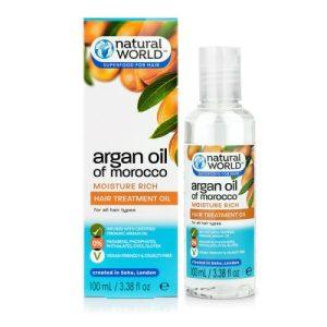 سرم مو نچرال ورد مدل آرگان حجم 100 میل Natural World َArgan Oil Of Morocco