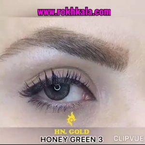 لنز گلدن سالانه رنگ عسلی سبز3 Golden