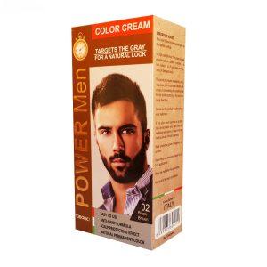 رنگ مو کلینیک مردانه قهوهای مشکی شماره 02 حجم 50 گرم cleanic