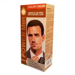 رنگ مو مردانه کلینیک شماره 01 مشکی حجم 50 گرم cleanic