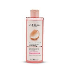 تونر آرایشی لورآل مخصوص پوست خشک و حساس حجم 400میل Loreal
