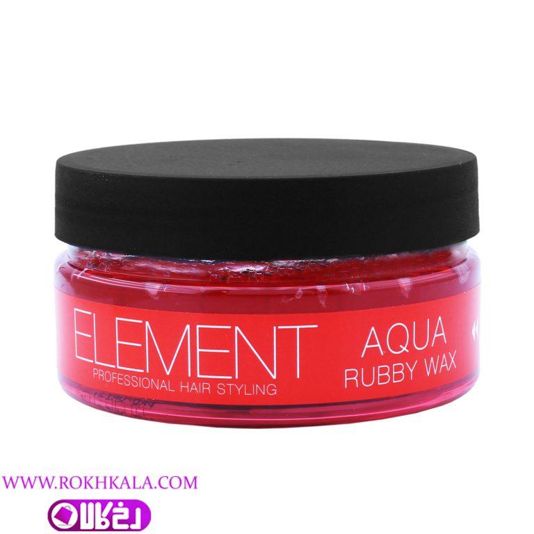 چسب مو المنت مدل aqua amber wax 5 حجم 150 میل Element